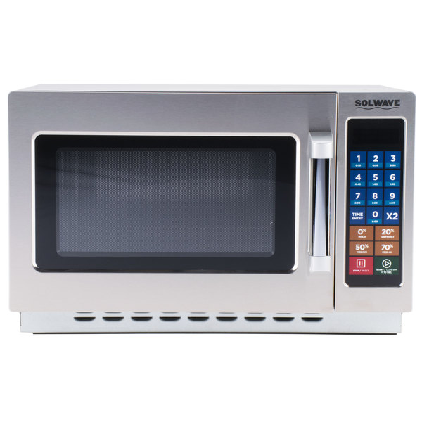Solwave Stackable Commercial Microwave with Push Button Controls - 120V
