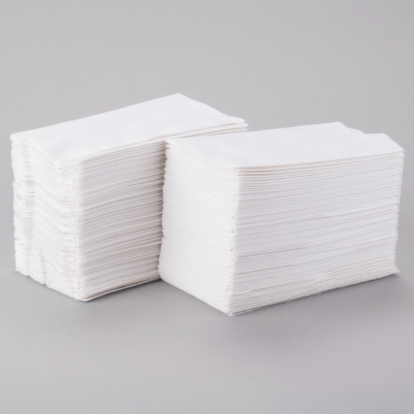 Response 2-Ply 15 inch x 17 inch White Dinner Napkin - 150/Pack