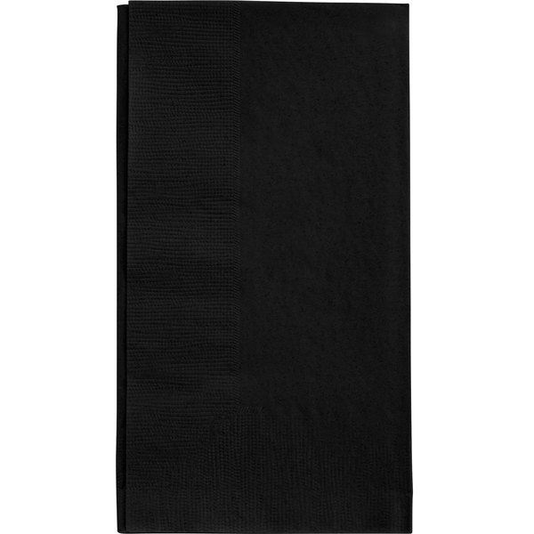 Choice 15 inch x 17 inch Black 2-Ply Paper Dinner Napkins - 125 / Pack