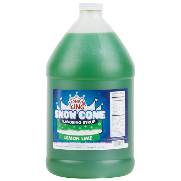 Carnival King 1 Gallon Lemon Lime Snow Cone Syrup