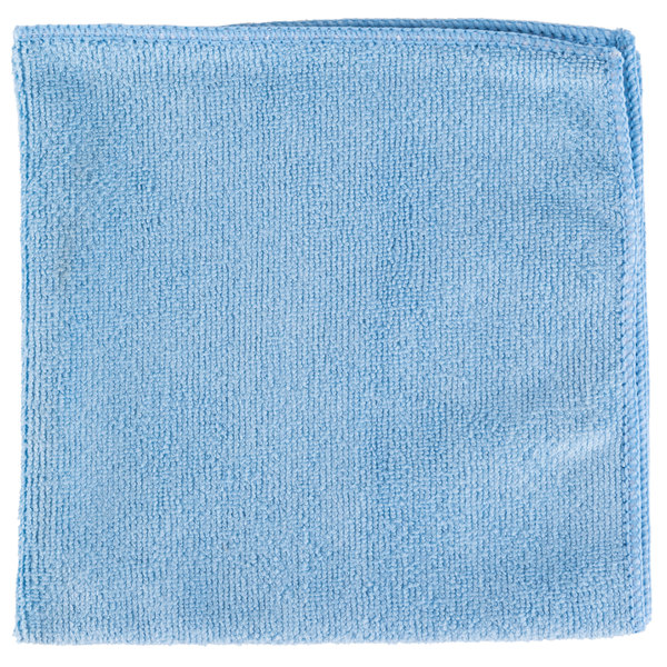 Unger ME40B SmartColor MicroWipe 16 inch x 16 inch Blue UltraLite Microfiber Cleaning Cloth