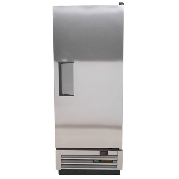 True T-12 25 inch One Section Solid Door Reach-In Refrigerator - 12 cu. ft.