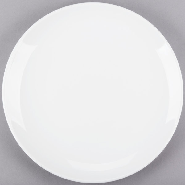 World Tableware 840-440C Porcelana Coupe 11 1/4 inch Round Bright White Porcelain Plate - 12/Case