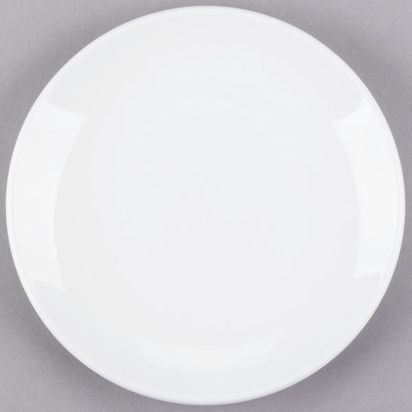 World Tableware 840-410C Porcelana Coupe 6 1/2 inch Round Bright White Porcelain Plate - 36/Case