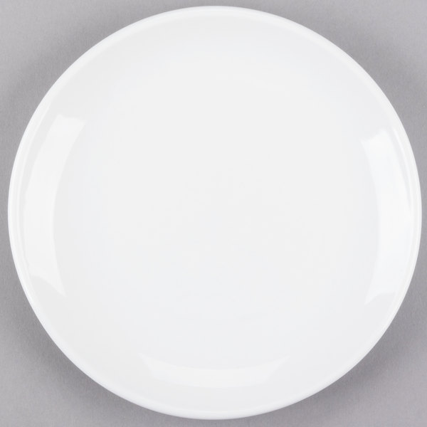 World Tableware 840-420C Porcelana Coupe 7 1/4 inch Round Bright White Porcelain Plate - 36/Case