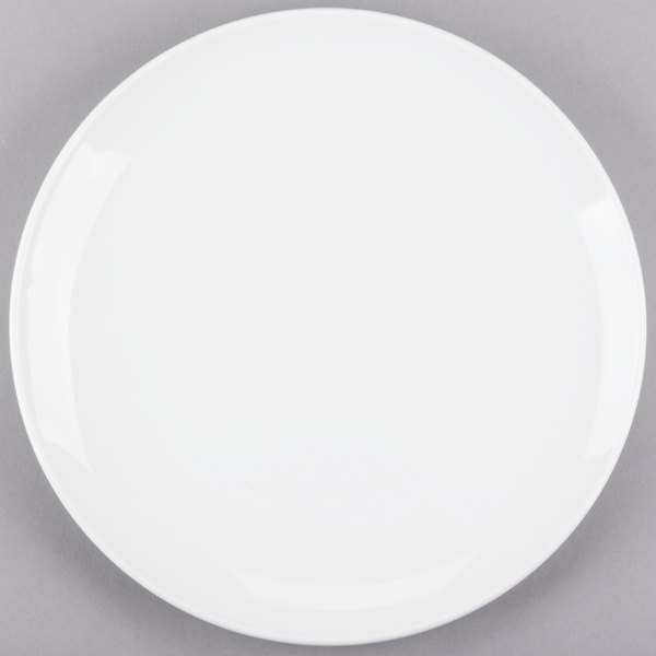 World Tableware 840-438C Porcelana Coupe 10 1/2 inch Round Bright White Porcelain Plate - 12/Case