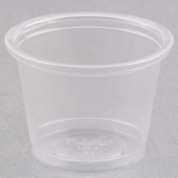 Choice 1 oz. Clear Plastic Souffle Cup / Portion Cup  - 2500/Case