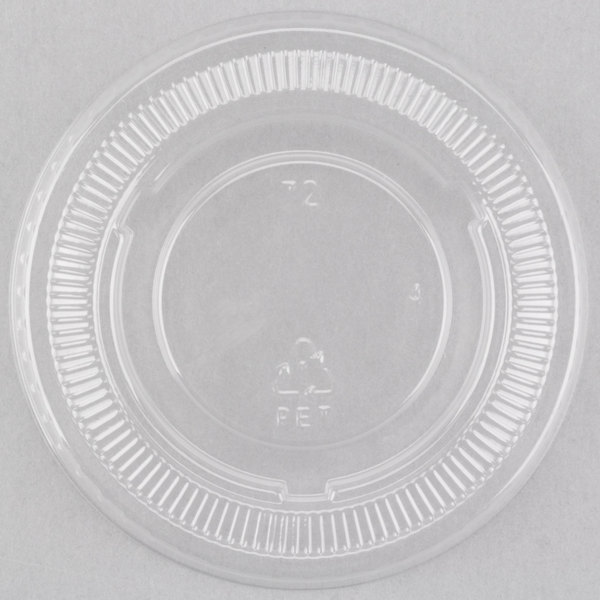 Choice PET Plastic Lid for 3.25 oz, 4 oz, and 5.5 oz. Souffle and Portion Cups  - 2500/Case