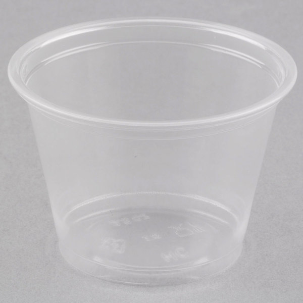 Choice 2.5 oz. Clear Plastic Souffle Cup / Portion Cup  - 2500/Case
