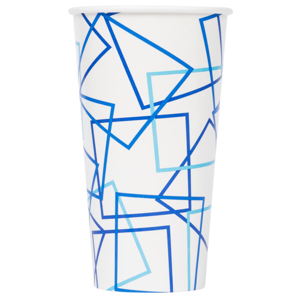 Choice 32 oz. Poly Paper Cold Cup  - 500/Case