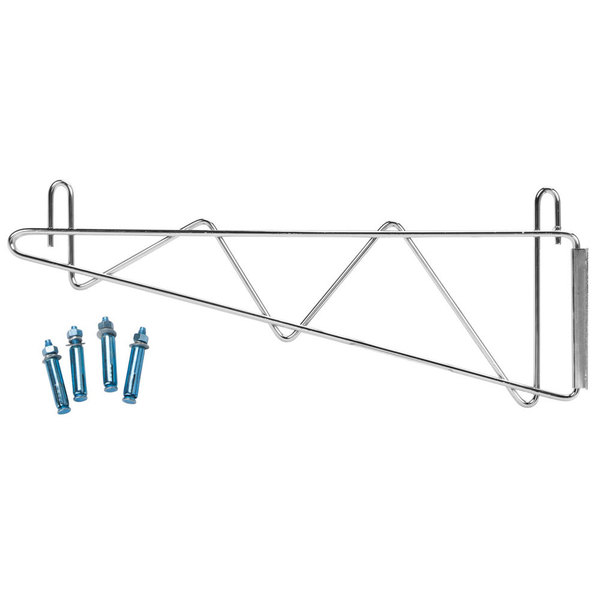Regency 18 inch Deep Wall Mounting Bracket Set for Chrome Wire Shelving