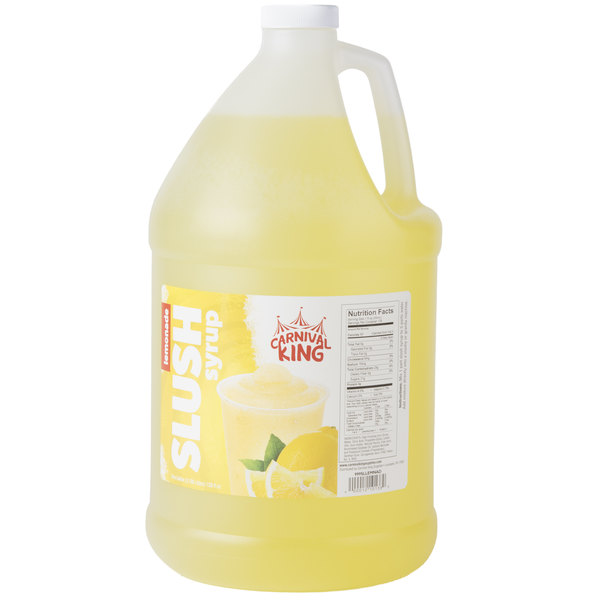 Carnival King 1 Gallon Lemonade Slushy Syrup - 4/Case