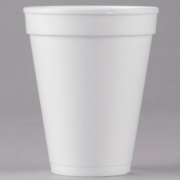 10 oz. White Foam Cup  - 1000/Case