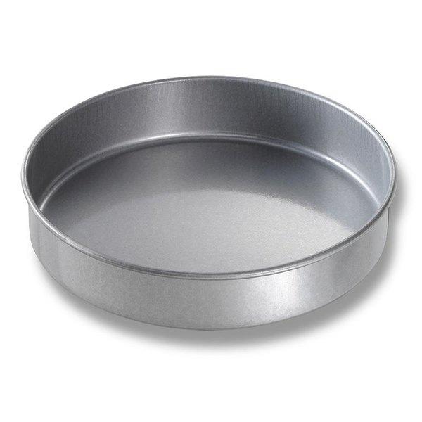 Chicago Metallic 41025 10 inch x 2 inch Glazed Aluminized Steel Round Cake Pan