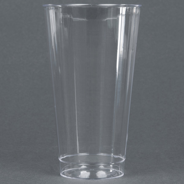 WNA Comet CC16240 Classicware 16 oz. Tall Clear Plastic Fluted Tumbler - 20/Pack