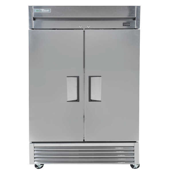 True TS-43-HC 47 inch Two Section Solid Door Reach-In Refrigerator