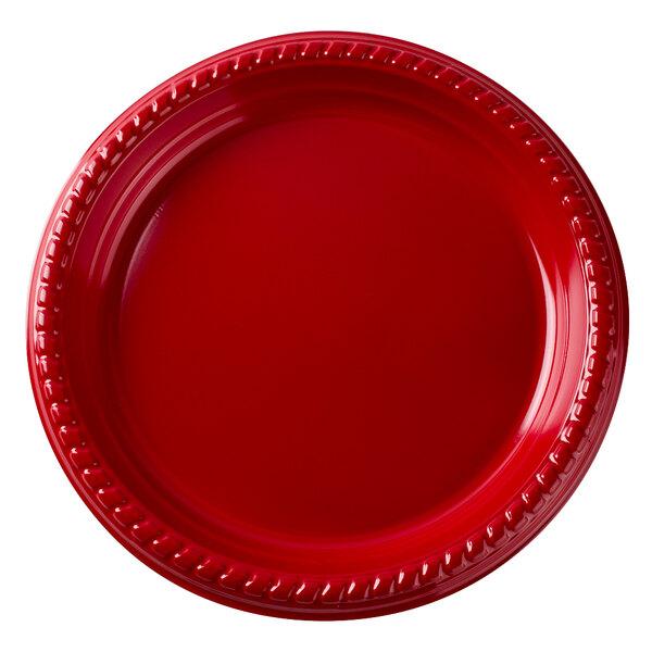 Dart Solo P65R-0099 6 inch Red Plastic Plate - 1000/Case