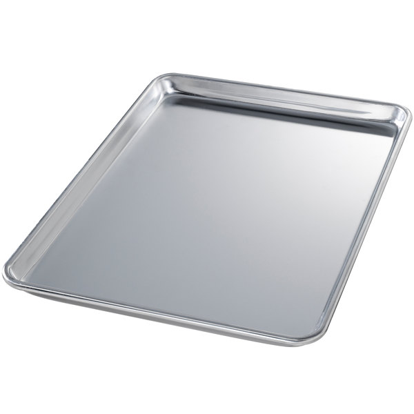 Chicago Metallic 40850 Half Size 18 Gauge Aluminum Sheet Pan - Wire in Rim, 13 inch x 18 inch