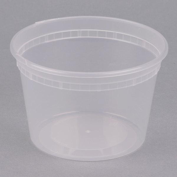 ChoiceHD 16 oz. Microwavable Translucent Plastic Deli Container - 480/Case