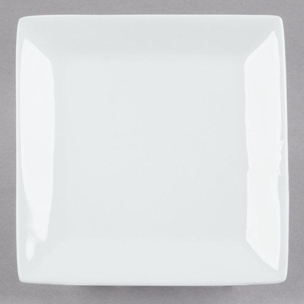Core 5 inch Bright White Square China Plate  - 48/Case