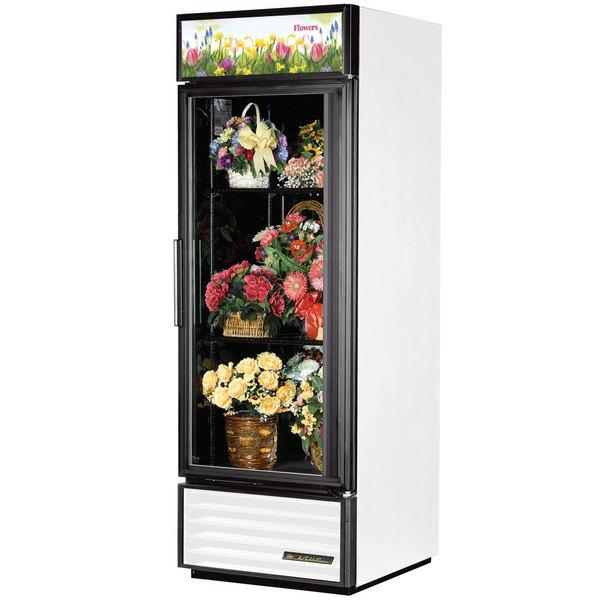 True GDM-23FC-HC~TSL01 27 inch White Glass Door Floral Case
