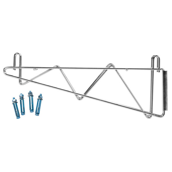 Regency 18 inch Deep Double Wall Mounting Bracket for Adjoining Chrome Wire Shelving