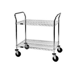Eagle Group U2-2460C 24 inch x 60 inch Chrome Heavy Duty Two Shelf Utility Cart
