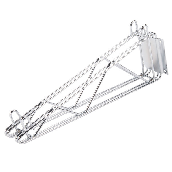 Advance Tabco DB-18 18 inch Deep Double Wall Mounting Bracket for Adjoining Chrome Wire Shelves
