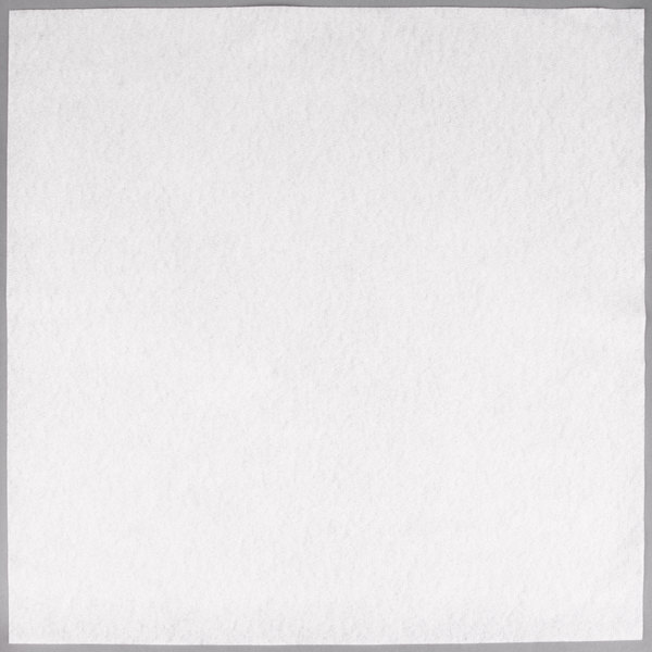 Hoffmaster 125028 Flat Pack 16 inch x 16 inch White Linen-Like Napkin - 500/Case