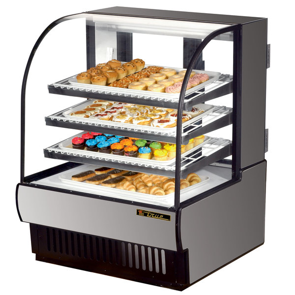 True TCGD-36 36 inch Stainless Steel Dry Bakery Display Case - 16.8 Cu. Ft.