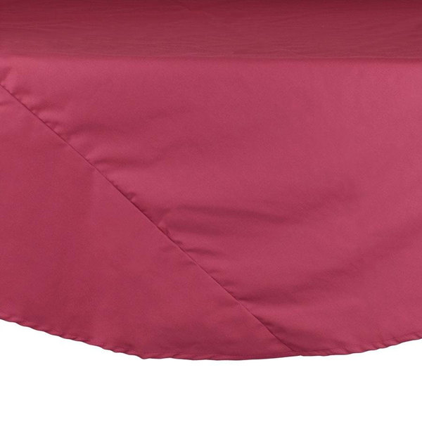132 inch Mauve Round Hemmed Polyspun Cloth Table Cover