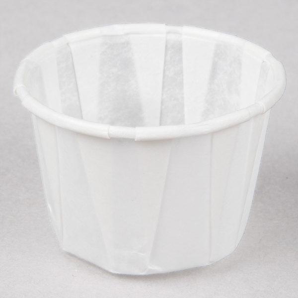 Genpak F100 1 oz. Harvest Paper Souffle / Portion Cup 5000 / Case