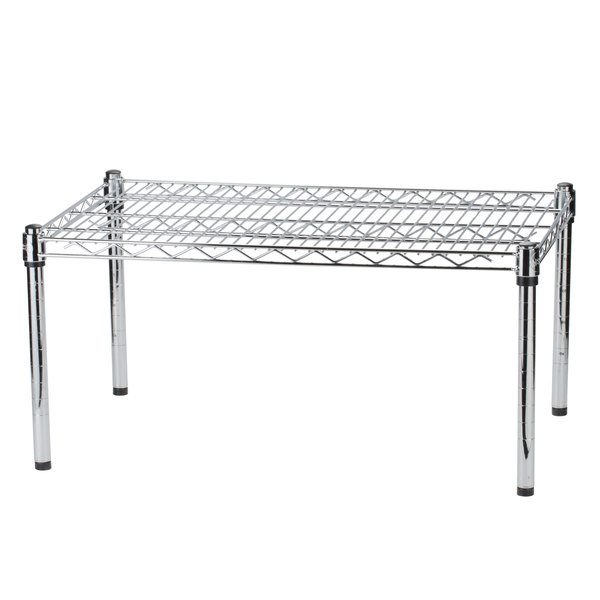 Regency 36 inch x 18 inch x 14 inch Chrome Plated Wire Dunnage Rack - 600 lb. Capacity