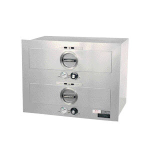Toastmaster 3B84AT72 29 inch Built-In 2 Drawer Warmer with Individual Thermostats - 208/240V, 850/980W
