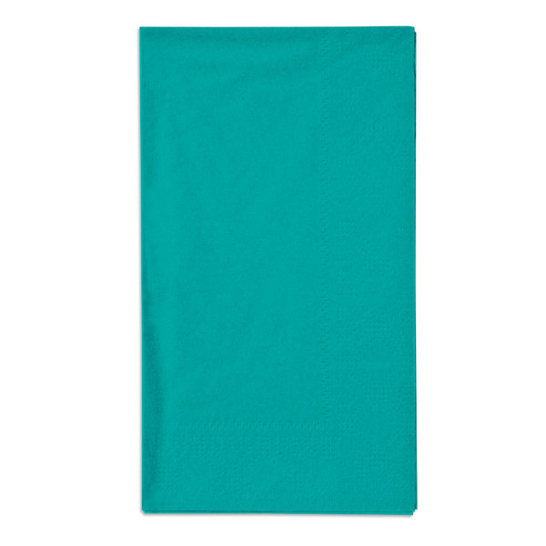 Hoffmaster 180501 Teal 15 inch x 17 inch Paper Dinner Napkins 2-Ply - 1000 / Case