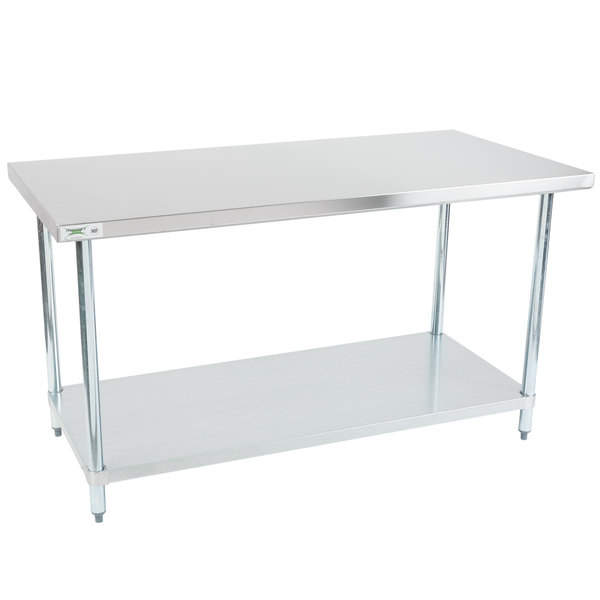 X NSF Regency Durable Stainless Steel Commercial Kitchen - 30 x 60 stainless steel work table