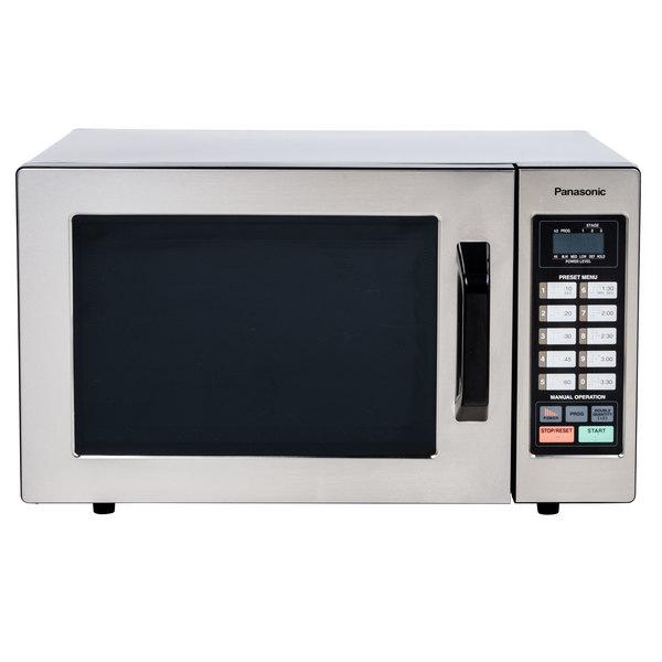 Panasonic NE-1054F Stainless Steel Commercial Microwave Oven - 120V, 1000W