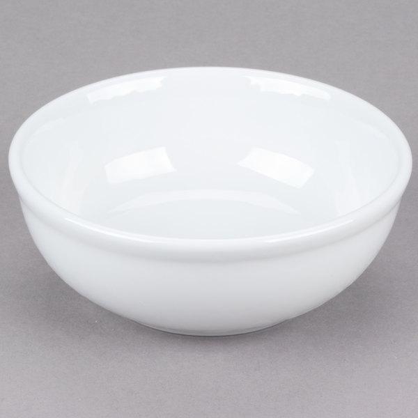 Tuxton ALB-1253 Alaska 15 oz. Bright White China Nappie Bowl - 36/Case