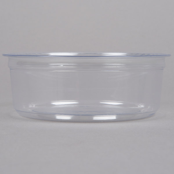 Fabri-Kal Alur RD8 8 oz. Recycled Customizable Clear PET Plastic Round Deli Container - 500/Case