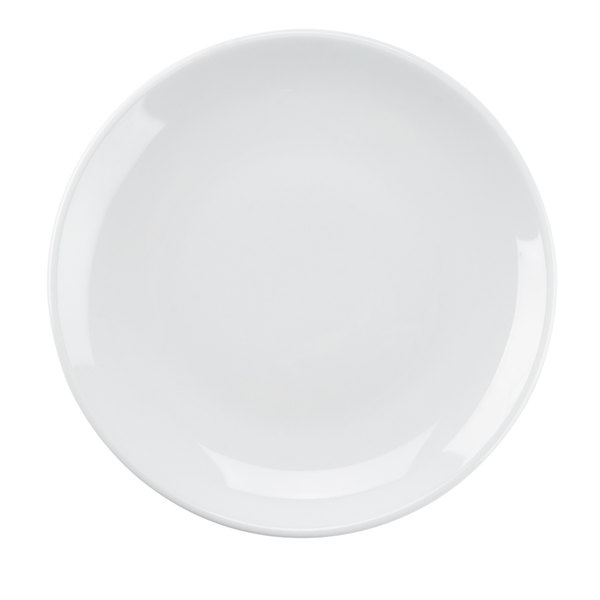 Tuxton VPA-064 Florence Coupe Plate in Porcelain White - 6 1/2 inch 36 / Case