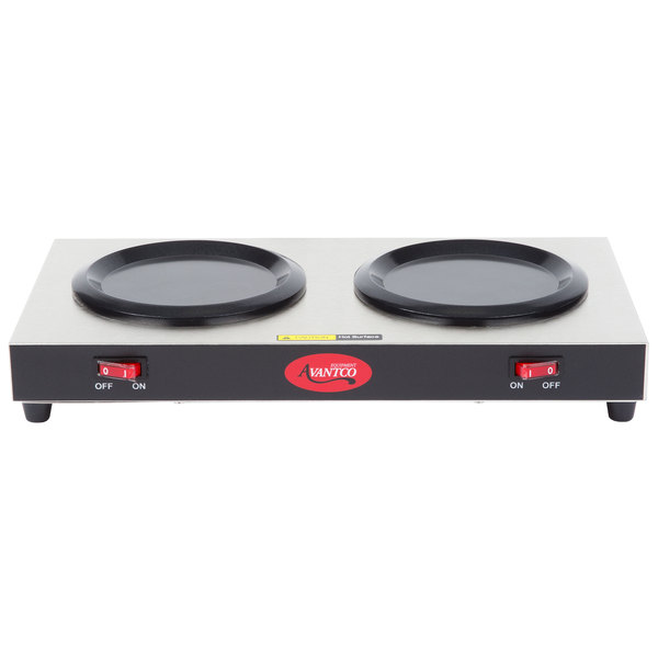 Avantco W52 Double Burner Decanter Warmer