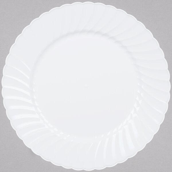 WNA Comet CW9180W Classicware 9 inch White Plastic Plate - 18 / Pack