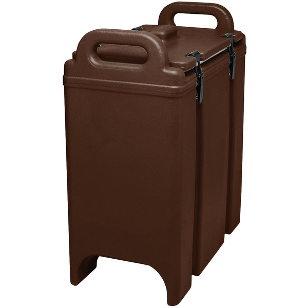 Cambro 350LCD131 Camtainer 3.375 Gallon Dark Brown Insulated Soup Carrier
