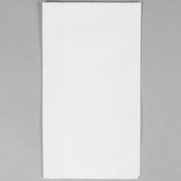 Hoffmaster 856460 Linen-Like Select 12 inch x 17 inch White 1/6 Fold Guest Towel in Dispenser Box - 500/Case