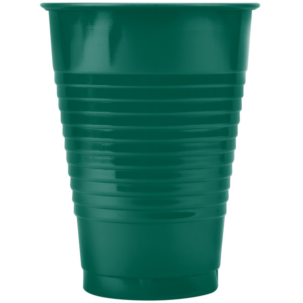 Dart Solo PS12G 12 oz. Green Plastic Cup - 1000/Case