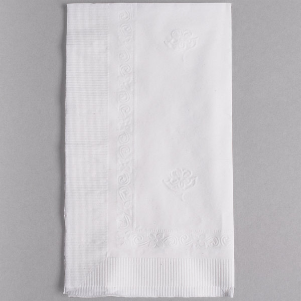 Marcal Eminence Bella 2-Ply 15 inch x 17 inch White Dinner Napkin - 100/Pack