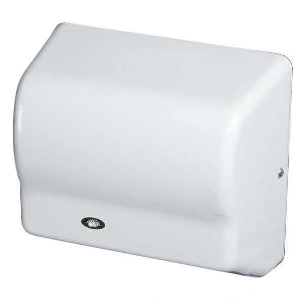 American Dryer GX1 GLOBAL Automatic Hand Dryer with White ABS Cover - 110-120V, 1500W