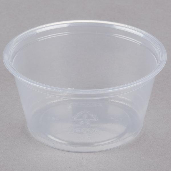 Dart Solo Conex Complements 200PC 2 oz. Translucent Plastic Souffle / Portion Cup - 2500/Case