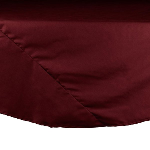 90 inch Burgundy Round Hemmed Polyspun Cloth Table Cover