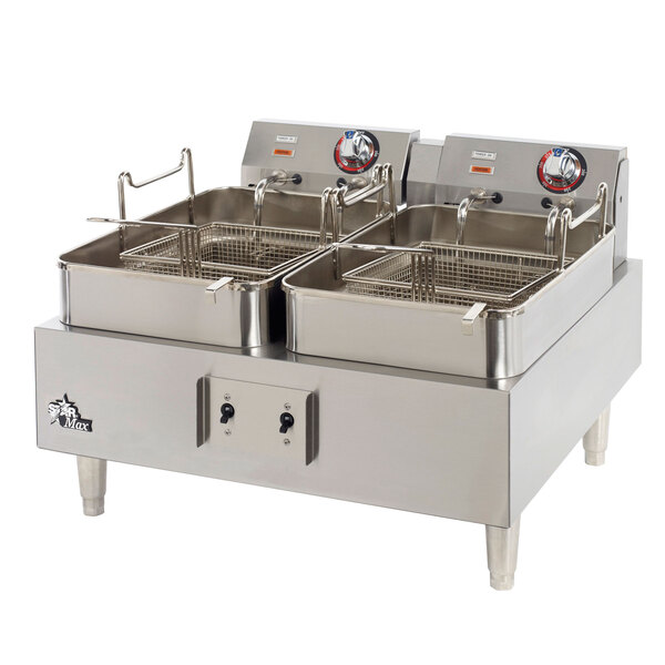Star Max 530TEF 30 lb. Commercial Countertop Deep Fryer Twin Pots 208/240V